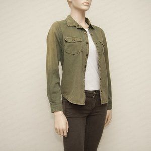 Forever 21 Snap Closure Utility Jacket with Americ